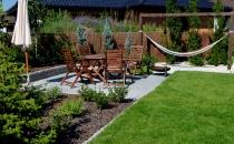 Geometryczny ogród i warzywnik